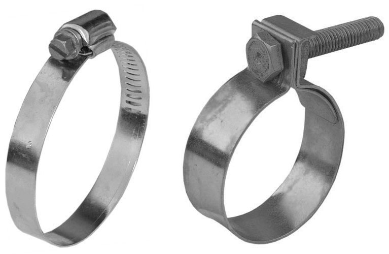 2 Hose clamps